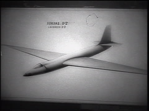 close up illustration of u-2 airplane / us spy plane downed in ussr / newsreel - 1960 stock videos & royalty-free footage