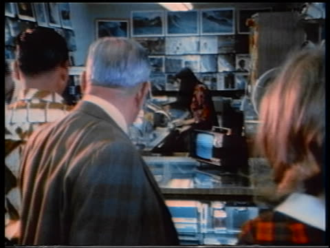 view people watching television in store - 1970 stock videos & royalty-free footage