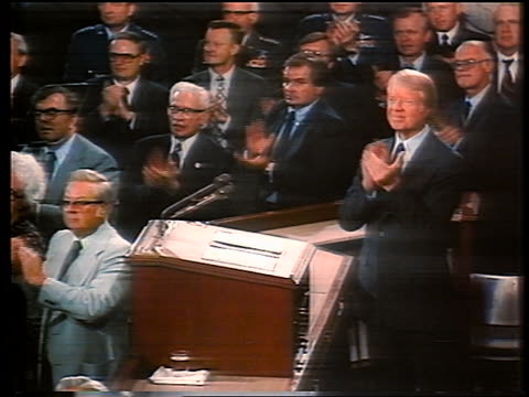 President Carter members of Congress clapping / documentary