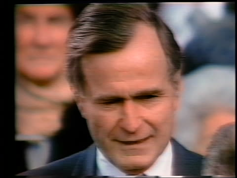 january 20 1981 close up george bush taking oath of office as vice president - vice president stock videos & royalty-free footage
