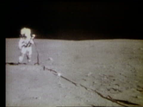 Astronaut running on Moon
