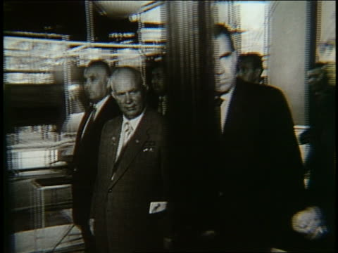 richard nixon walking with nikita khrushchev - 1958 stock videos & royalty-free footage