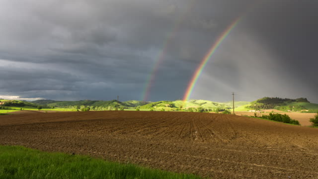 orcia valley - circa 2014: - rainbow stock videos & royalty-free footage
