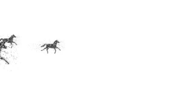 vídeos de stock, filmes e b-roll de cavalos: (transição - manipulação digital