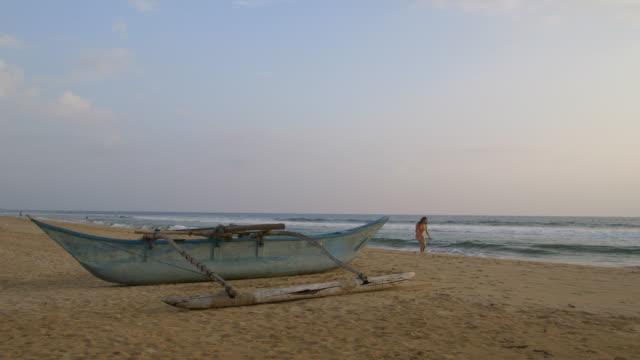 bentota beach - fibreglass stock videos and b-roll footage