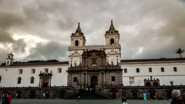 hyperlapse iglesia san francisco quito ecuador - ecuador stock videos & royalty-free footage