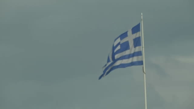 nnbd881x - greek flag stock videos & royalty-free footage