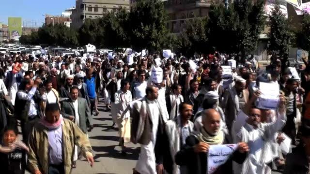 ADEN YEMENI PROTEST ANTI HOUTHIS