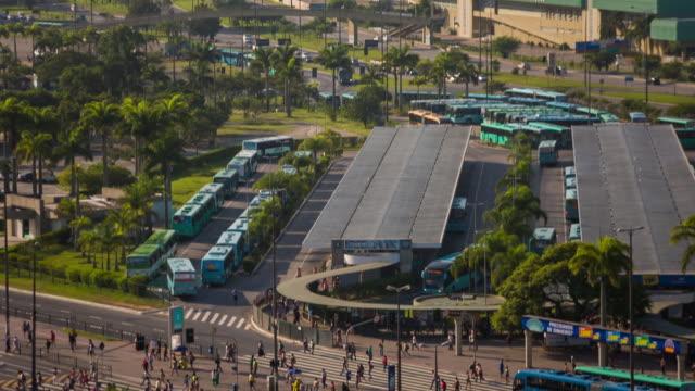 vídeos de stock, filmes e b-roll de sts_fln_087 center - bus station - transporte público