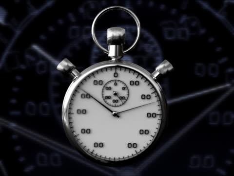 CLOCK STOP WATCH 3D RENDER WITH GRAPHICS
