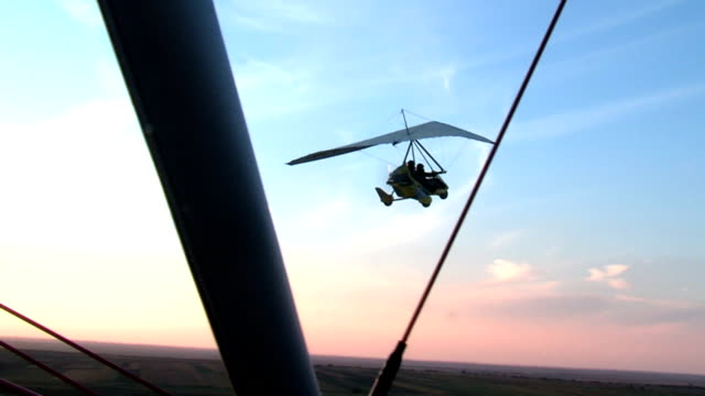 AERIAL VIEW FROM MOTOR HANG-GLIDER