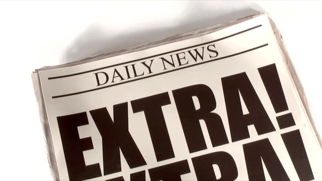extra! (hd,ntsc) - exclamation point stock videos and b-roll footage
