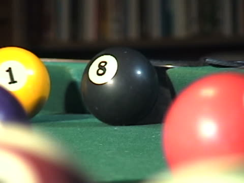 zoom out from the 8 ball - eight ball stock videos & royalty-free footage