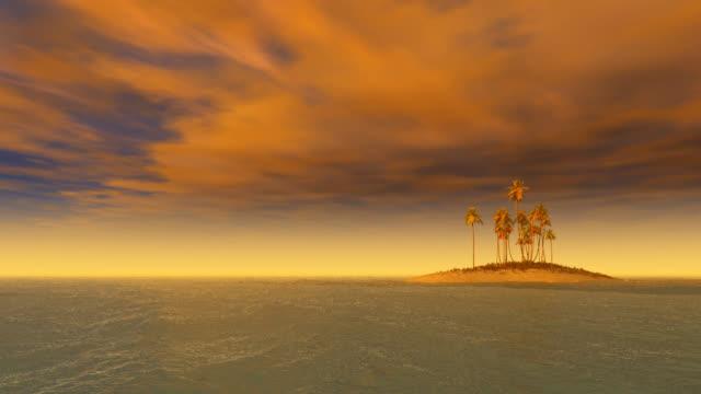 alone island loop - desert island stock videos & royalty-free footage