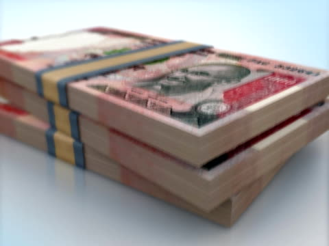 india 1000 rupee bank notes packs falling - circa 11th century stock videos and b-roll footage