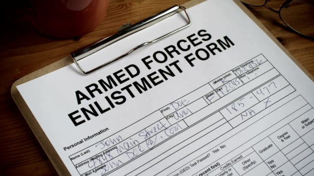 armed forces form-approved-1080hd - military recruit stock videos & royalty-free footage
