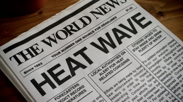 NEWSPAPER-HEADLINE-HEAT WAVE-1080HD