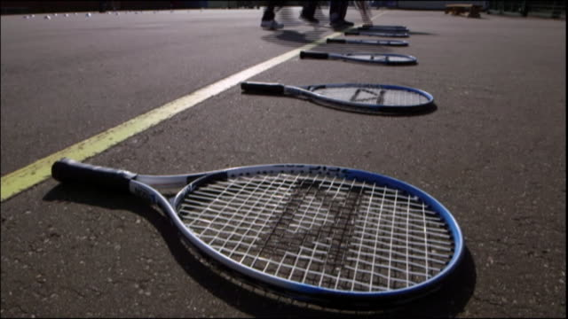nnps214r - tennis racket stock videos & royalty-free footage