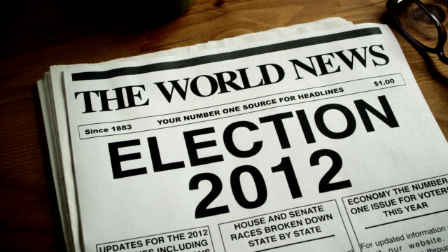 NEWSPAPER HEADLINE-ELECTION 2012
