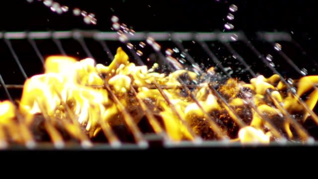 lighting the grill-slow motion - grill stock videos and b-roll footage