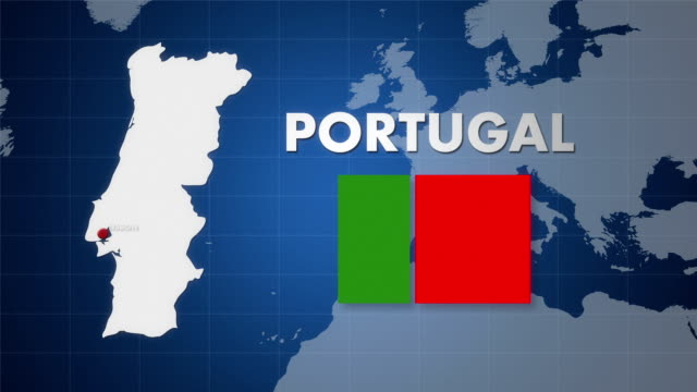 stockvideo's en b-roll-footage met hd portugal map animation - bureauglobe