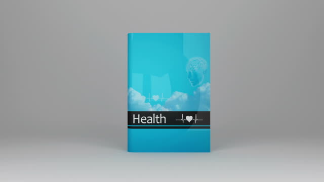 health book - book cover stock videos & royalty-free footage
