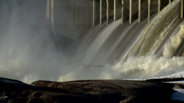 hydro dam spillway - generator stock videos and b-roll footage
