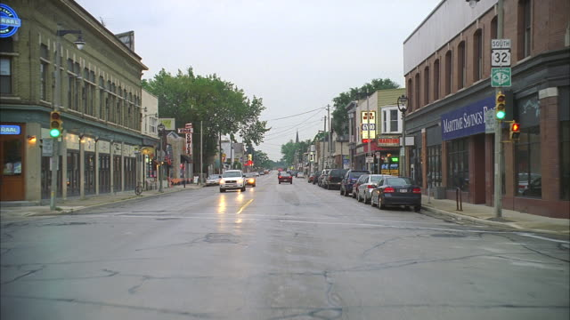 mov pov wisconsin rural highway & small town street - town stock videos & royalty-free footage