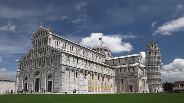 st mary cathedral and leaning tower - pisa cathedral stock videos & royalty-free footage