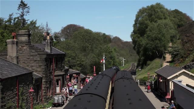 trains at station platform - milk churn stock videos & royalty-free footage
