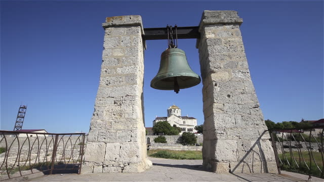 signal bell and saint vladimir cathedral - sevastopol crimea stock videos and b-roll footage