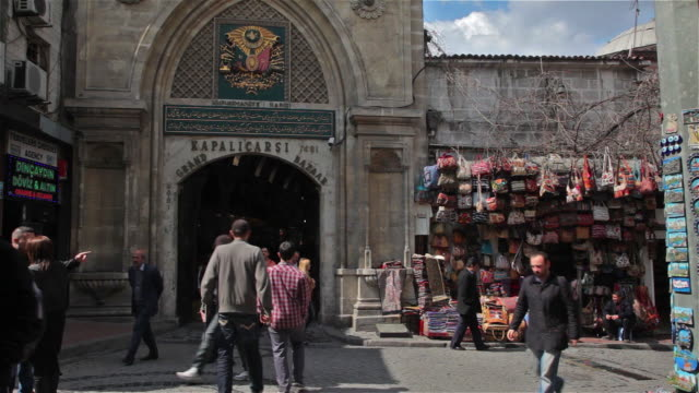 grand bazaar entrance - eminonu district stock videos and b-roll footage