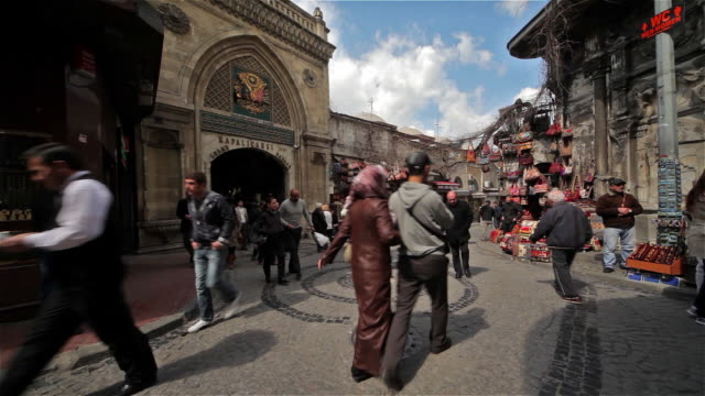 grand bazaar entrance - sultanahmet district stock videos and b-roll footage