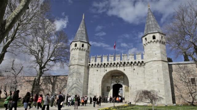 topkapi palace main entrance - topkapi palace stock videos and b-roll footage