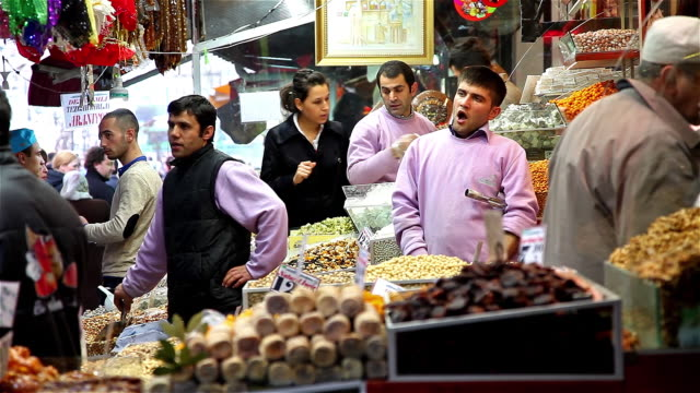 yawning sweet seller - spice bazaar stock videos & royalty-free footage