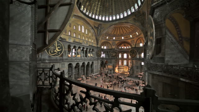 inside haghia sophia mosque - blue mosque stock videos & royalty-free footage