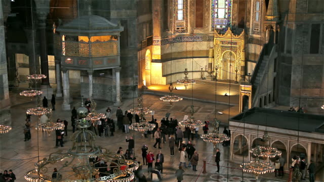 inside haghia sophia mosque - hagia sophia istanbul stock videos & royalty-free footage