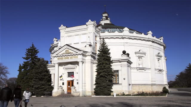 panorama building - sevastopol crimea stock videos and b-roll footage