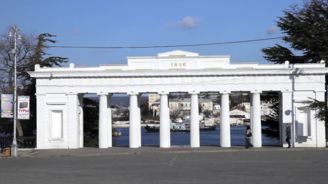 count quay colonnade - sevastopol crimea stock videos and b-roll footage