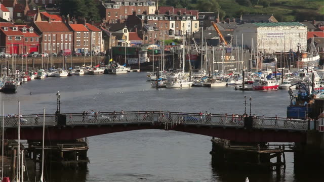 swing bridge and harbour - swing bridge stock videos & royalty-free footage