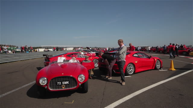 ferrari 166mm barchetta & 430; silverstone race track, england - silverstone stock videos & royalty-free footage