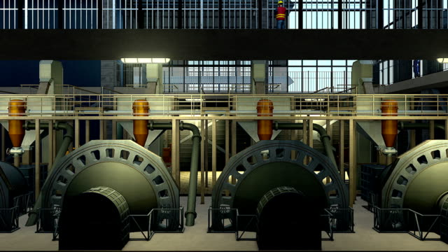 ball mill four - 3d animation stock videos & royalty-free footage