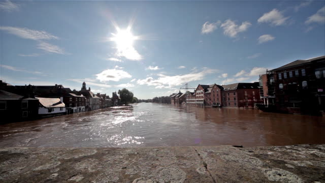 the river ouse from ouse bridge; city of york - river ouse stock videos & royalty-free footage