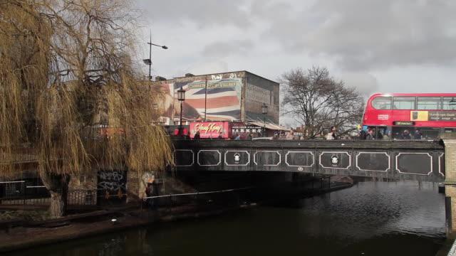 camden lock - bus stock videos & royalty-free footage