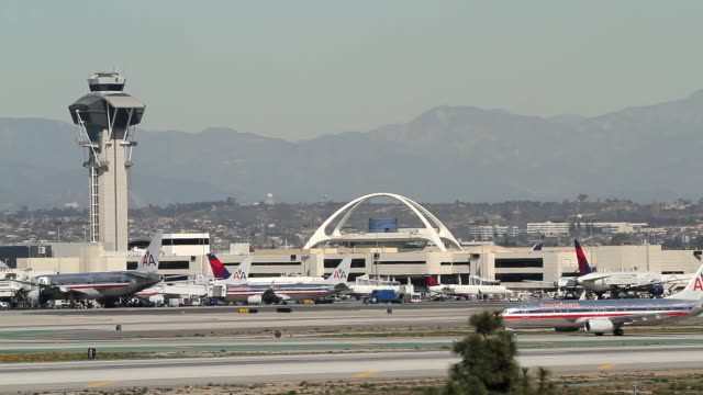 lax los angeles international airport - lax airport stock videos & royalty-free footage
