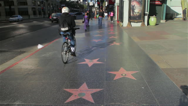 hollywood walk of fame - walk of fame stock videos & royalty-free footage