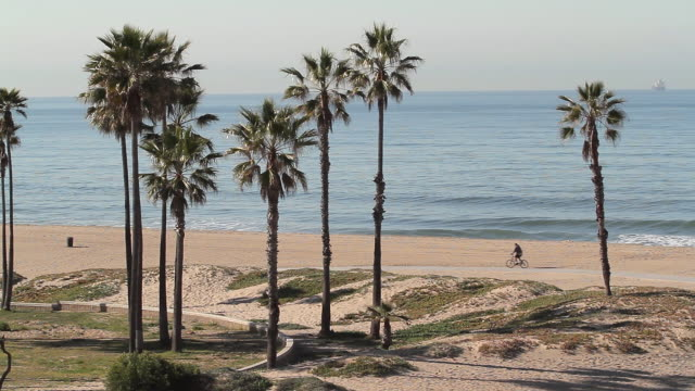 vidéos et rushes de cycle path dockweiler state beach - comté de los angeles