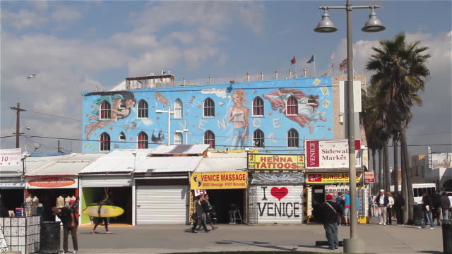 VENICE RECONSTITUTED MURAL AND BOARDWALK
