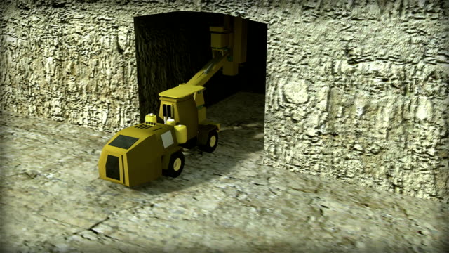 3D ANIMATION OF ROOF BOLTING EQUIPMENT USED IN UNDERGROUND MINING