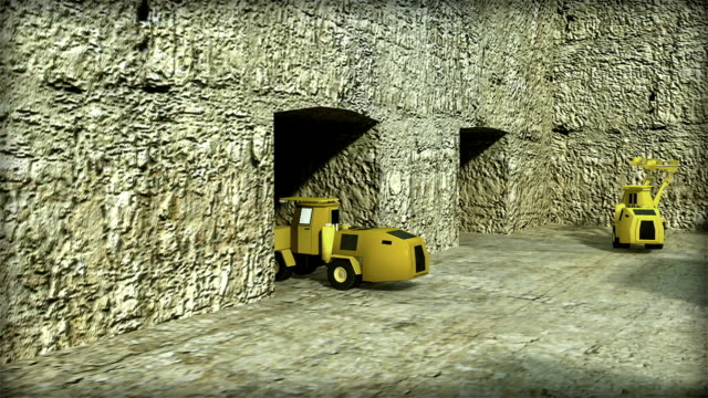3D ANIMATION SHOWING UNDERGROUND MINING METHODS